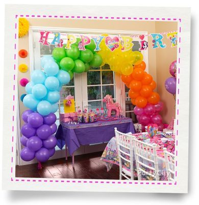 Rainbow Balloon Arch How To Party City Little Pony Party Pony Party Rainbow Balloons