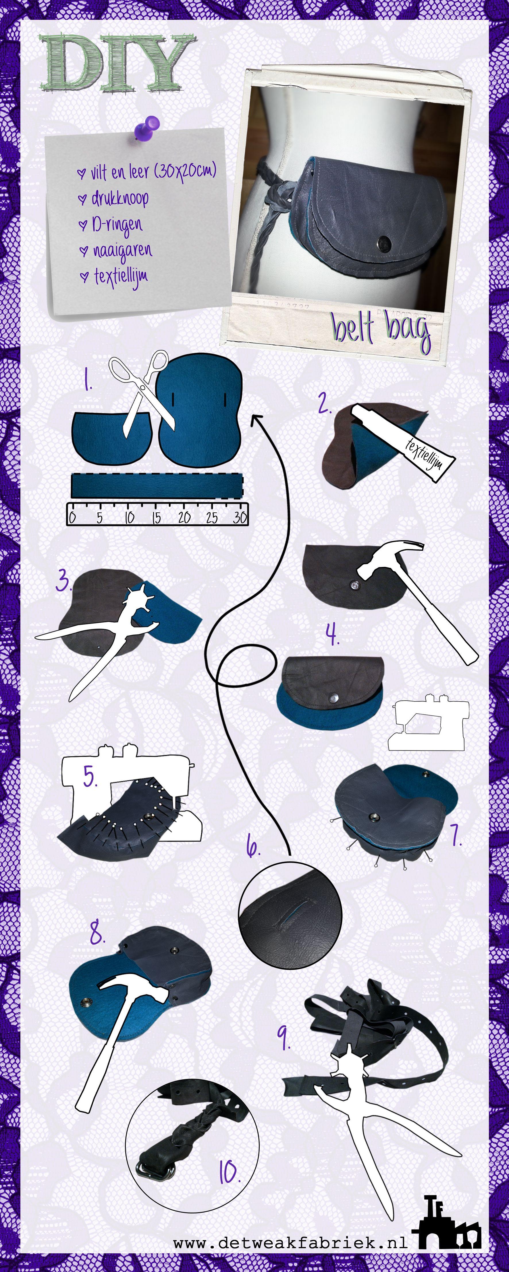 DIY belt bag / riem tas (dutch) | larp | Pinterest | Coser cuero ...
