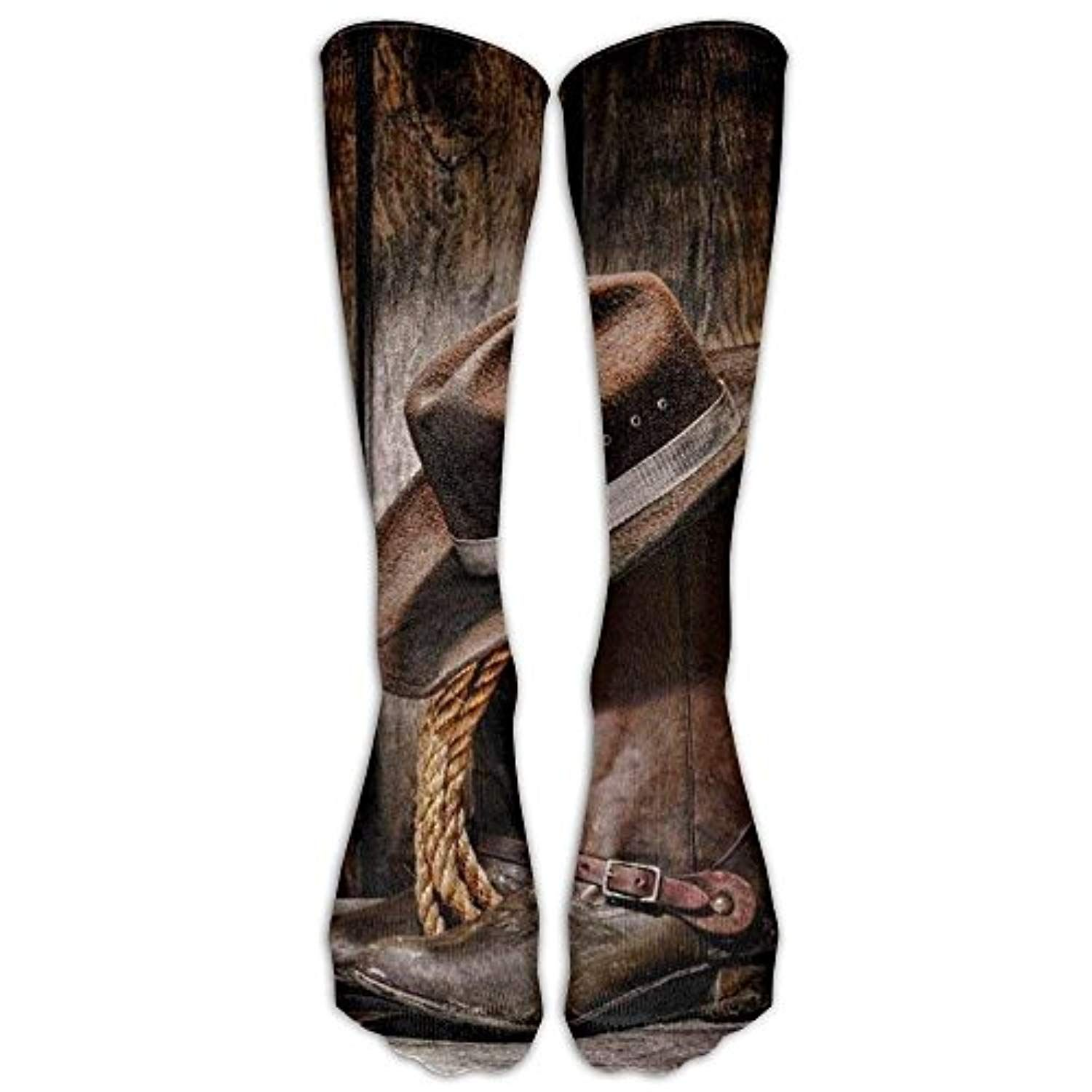 Cowboy Boots Athletic Tube Stockings Women Men Classics Knee