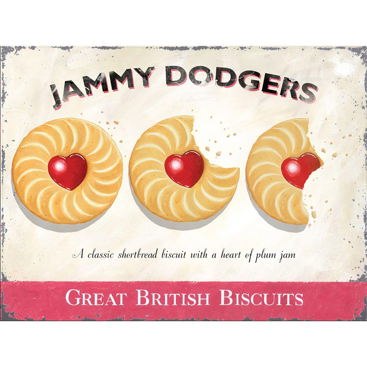 Jammy Dodgers British Biscuits Metal Bakery Sign_D | British ...