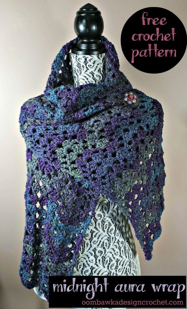 Midnight Aura Wrap Free Pattern from Oombawka Design | Pinterest ...