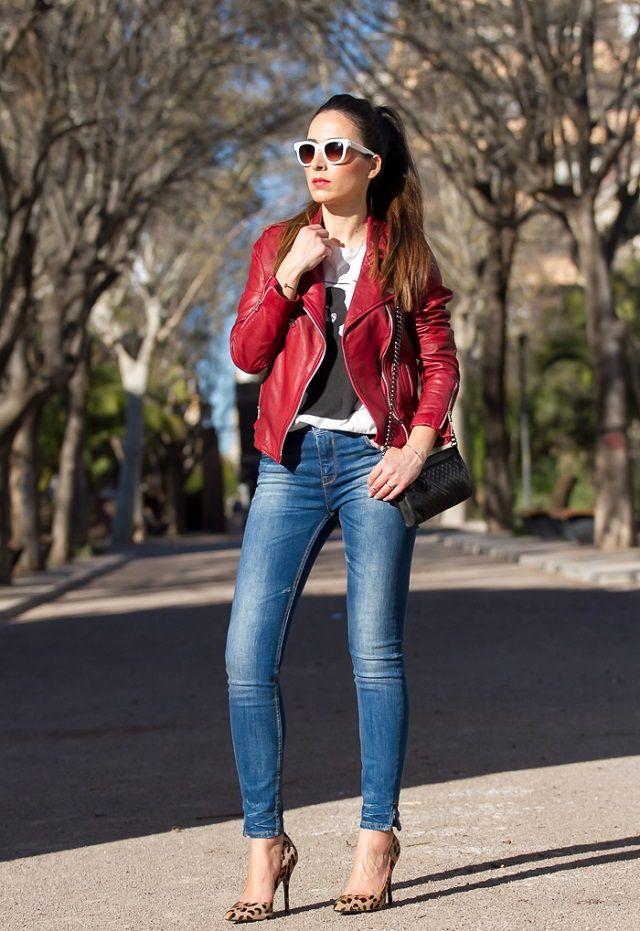 Ideas de look con chaqueta biker de cuero. Lo Mejor de Street Style. Esta