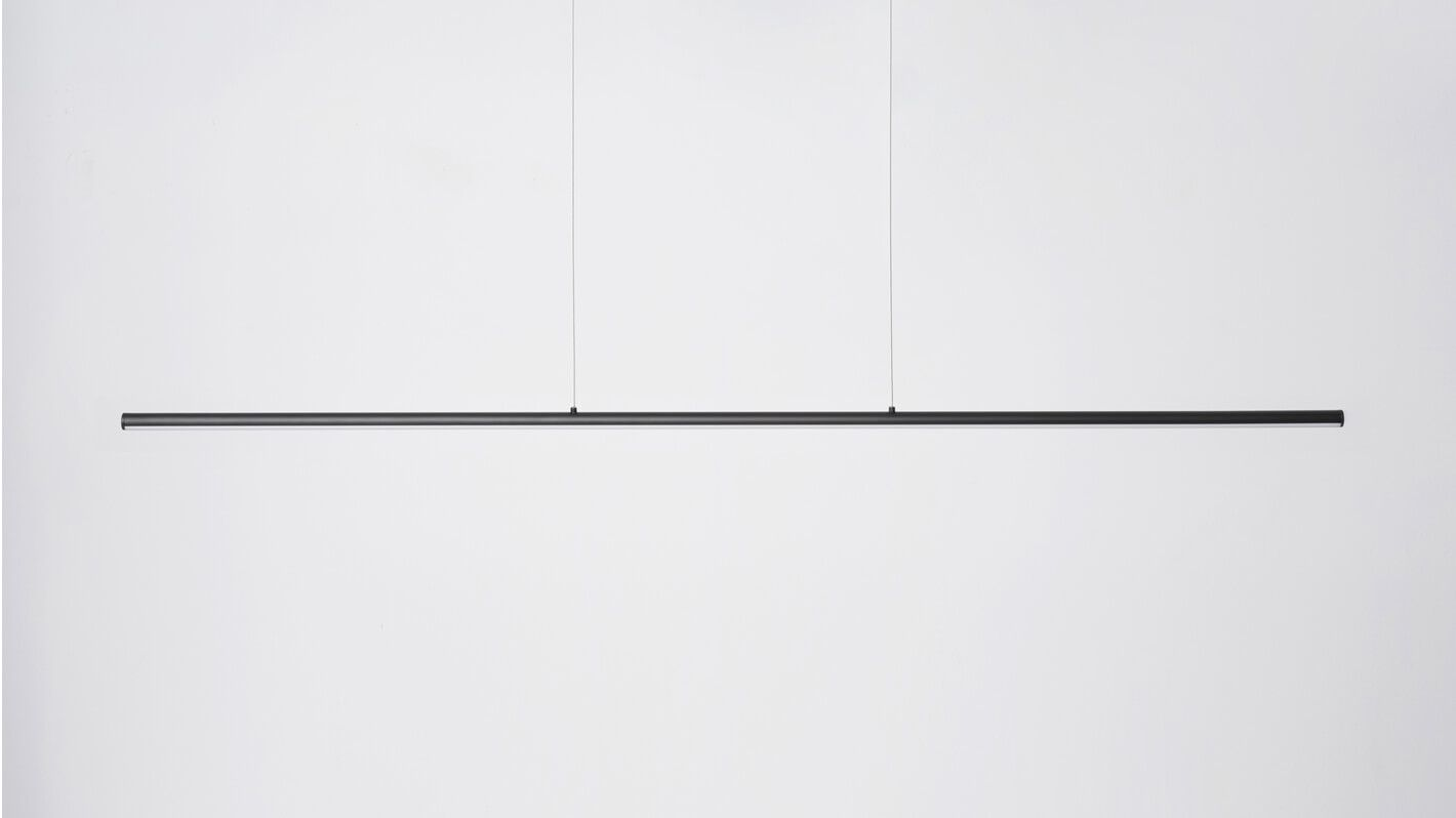 The Slimline Pendant Features A Simple Streamlined Design Illuminated By Led Light Its Understated Fo Office Design Inspiration Dining Room Pendant Cool Lamps