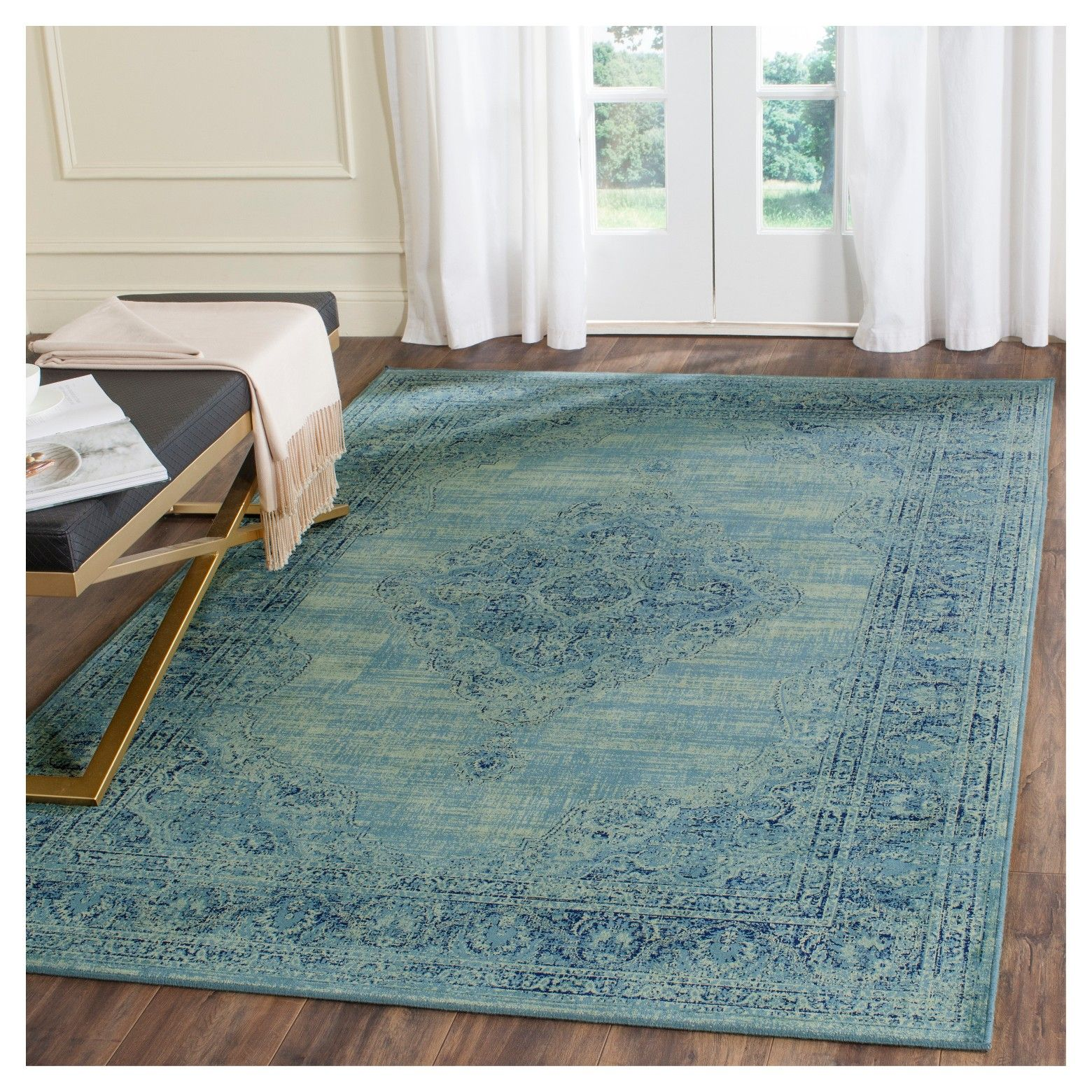 For The Look Of An Instant Distressed Accent Rug That Won T Show
