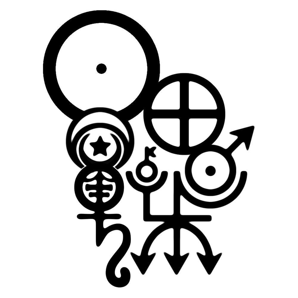Seal of planets from the top left descending the sun the seal of planets from the top left descending the sun the moon nestled in the horns of mercury is the star which then becomes venus note the biocorpaavc Gallery