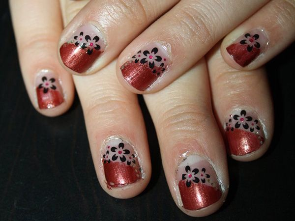 Half And Half Nails Accessories For Cats Pinterest Pattern Nails