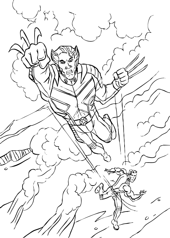Wolverine coloring page | Coloring pages | Pinterest