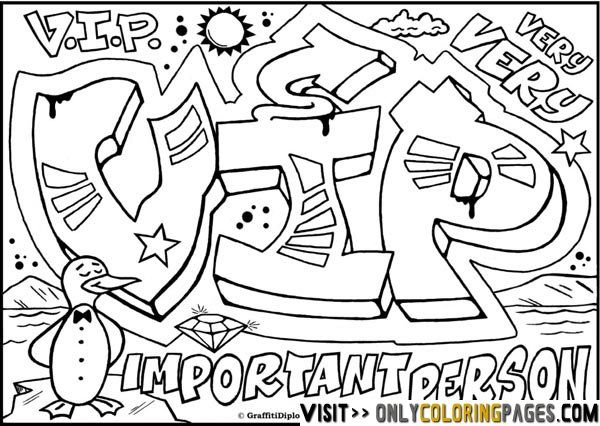 graffiti coloring pages names Coloring pages for