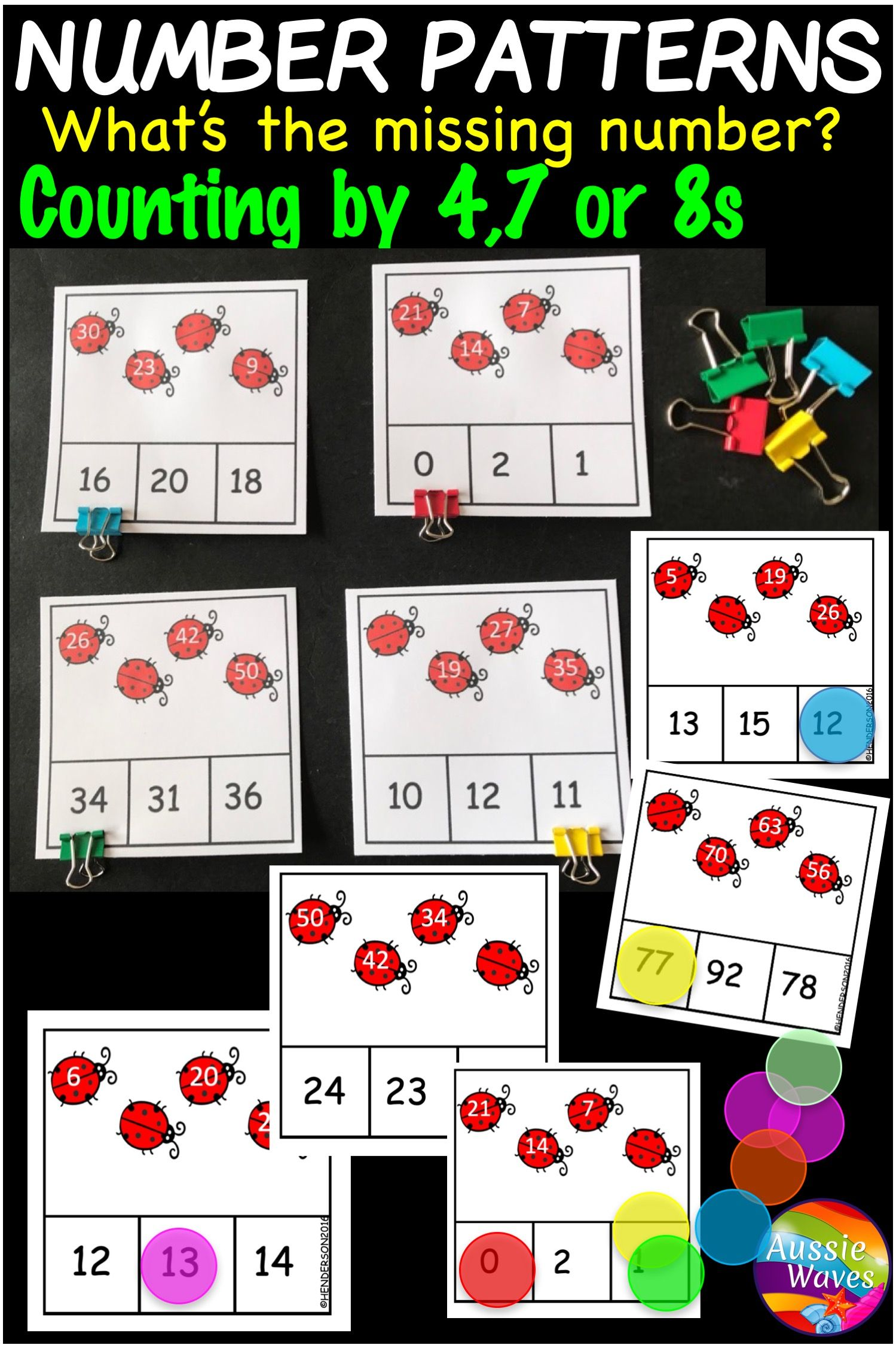 Math Centre Activities Missing Counting Numbers Patterns