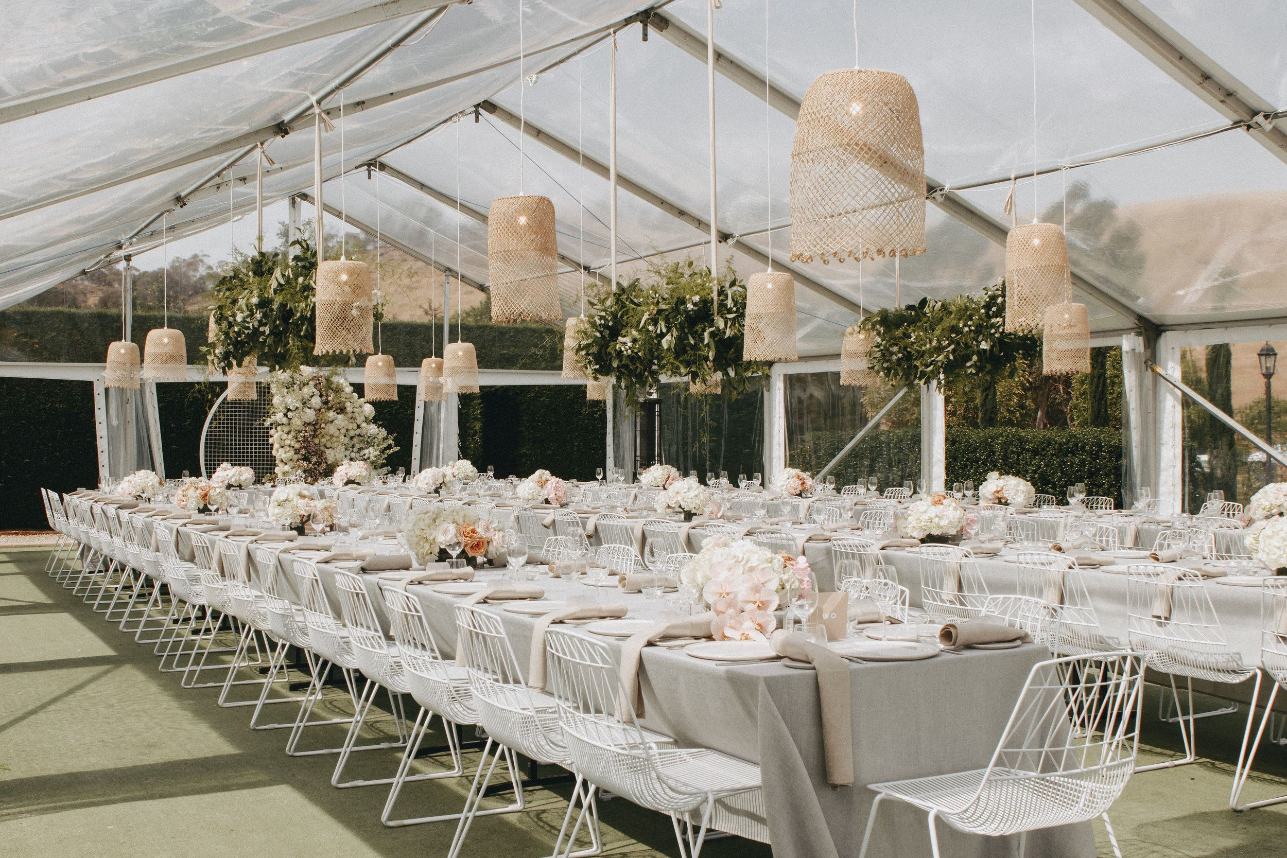 Cane Basket Pendant Lights In 2020 Tent Decorations Wedding