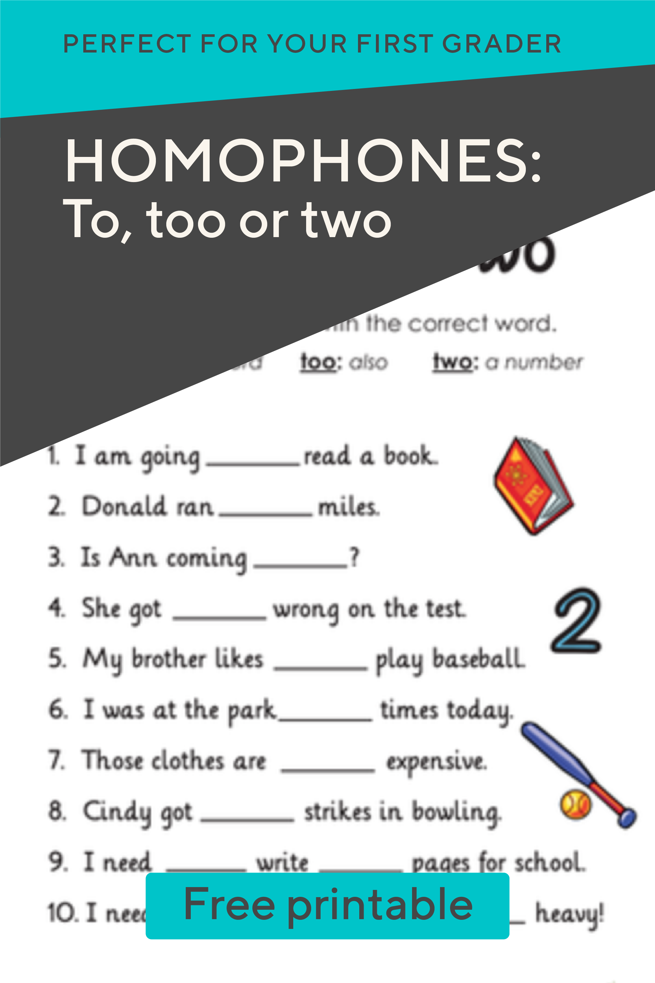 Homophones To Too Or Two