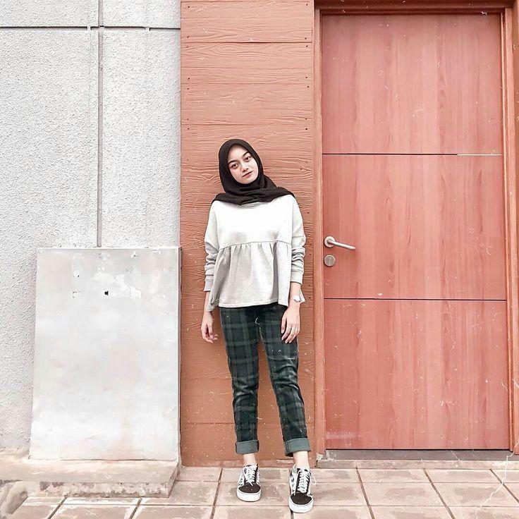 Inspirasi Ootd Hijab Untuk Ke Kampus N D Outfit Kampus Ootd Hijab Ootd Hijab Casual