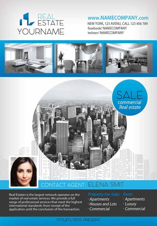 Real Estate Free Flyer Template - http\/\/freepsdflyer\/real - corporate flyer template