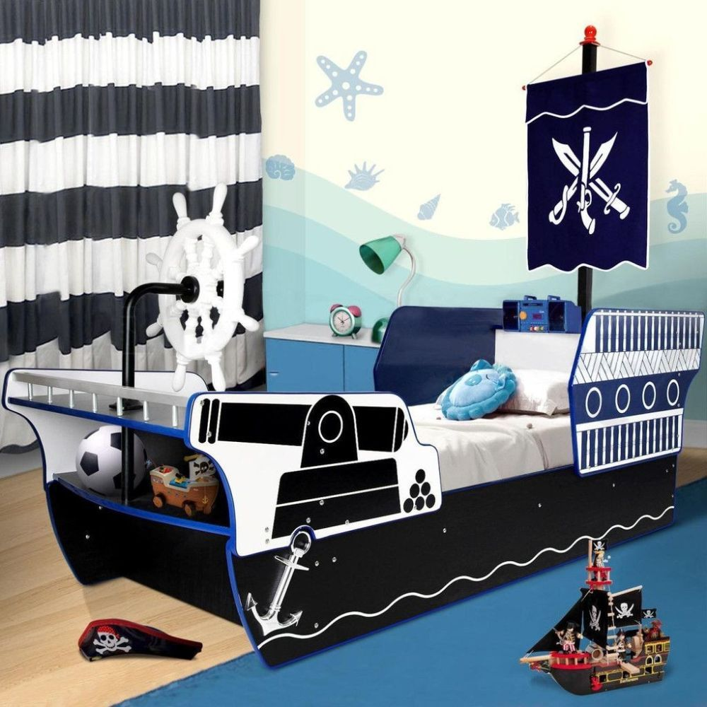 Unique And Cool Pirate Ship Toddler Bed For Boy Modern