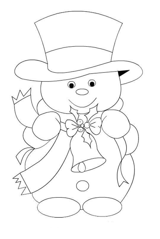 Winter Snowman Hat Hat Template Wooden Snowman