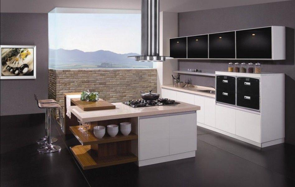 Kitchen  Minimalist Kitchen Design With Contemporary Modular Custom Design Of Modular Kitchen Cabinets Design Ideas