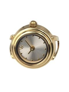 Ladies Collection RD10284-02 - Stainless steel ring horloge met gold plating. Past altijd. Spatwaterdicht 3 ATM. Afmeting kast = 18 mm