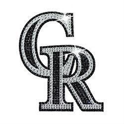 Colorado Rockies Rhinestone Bling Auto Emblem