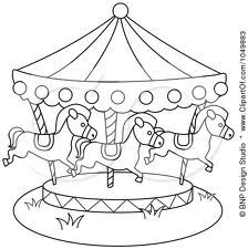 Make carousel out of large beach umbrella, pvc pipe poles