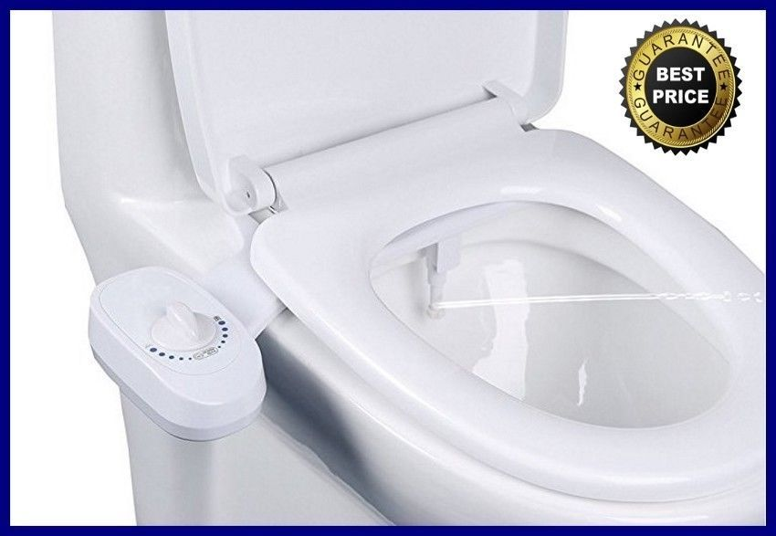 Mechanical Non Electric Bidet Self Cleaning Toilet Seat Attachment