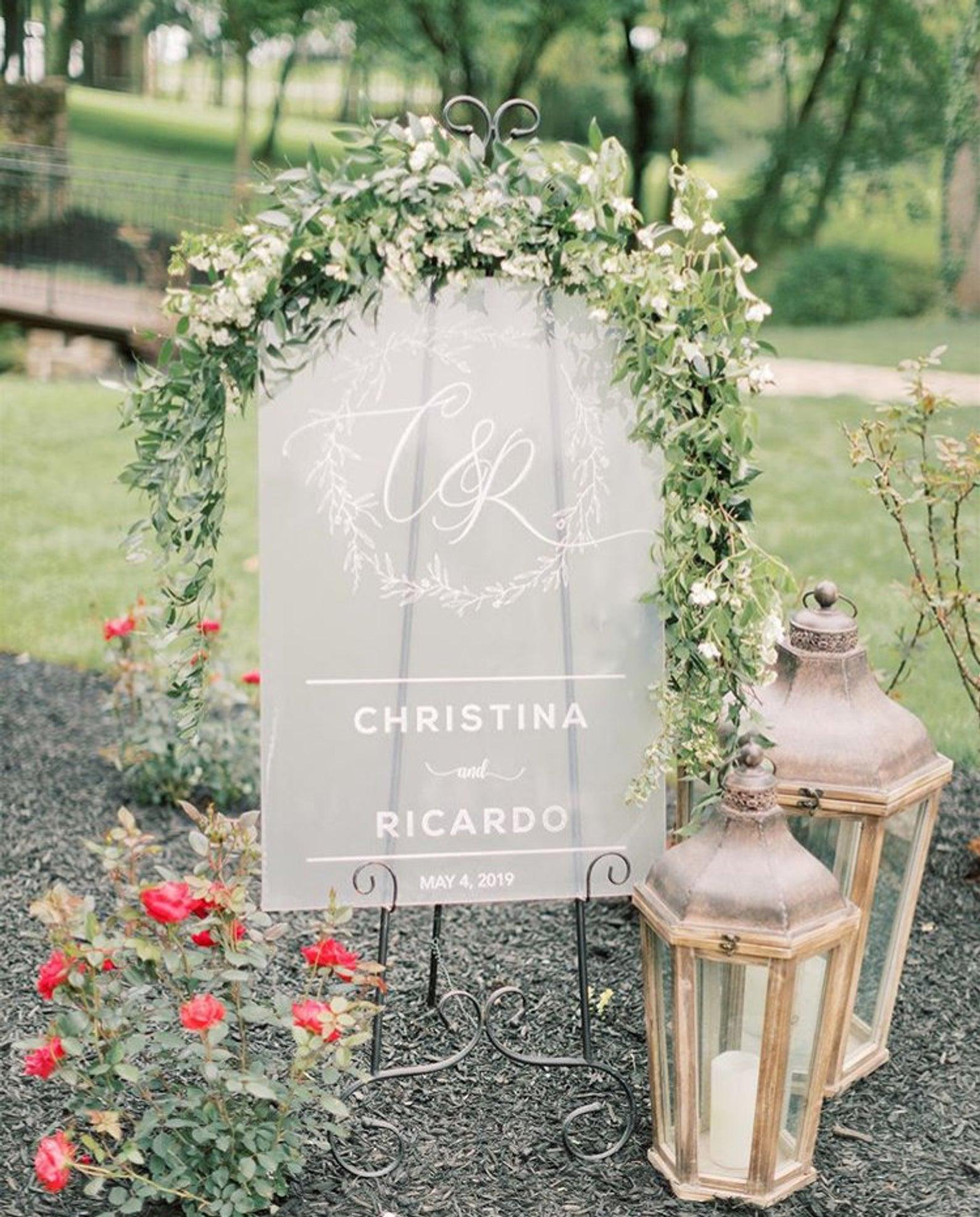 Custom Wedding Welcome Sign //Wedding Welcome sign//acrylic wedding sign// Welcome sign // custom wedding decor //Frosted acrylic #weddingwelcomesign