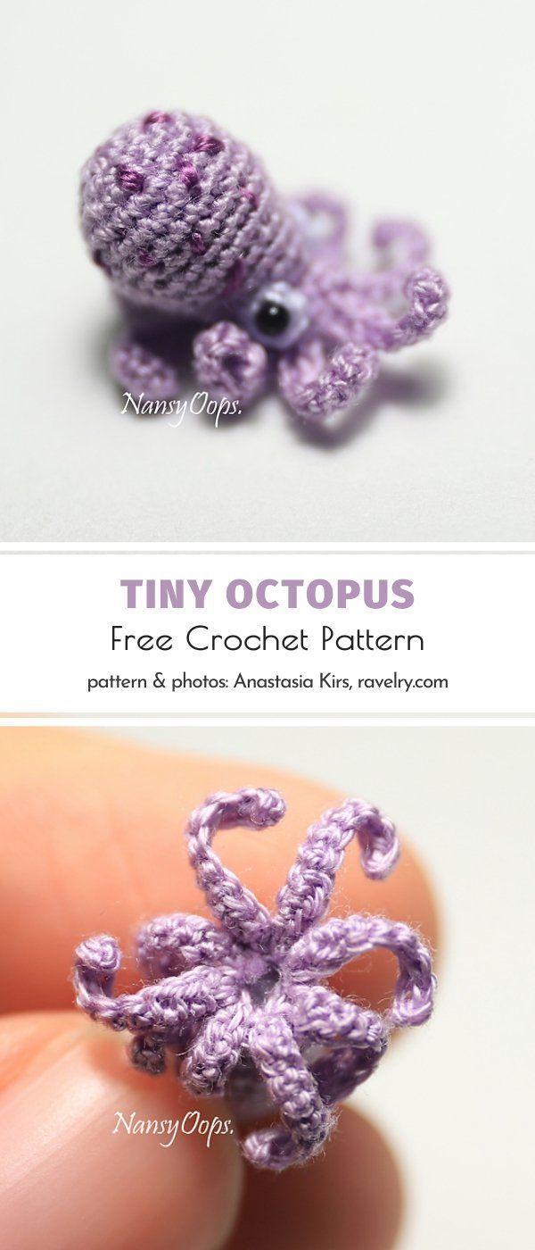 Tiny Octopus Free Crochet Pattern
