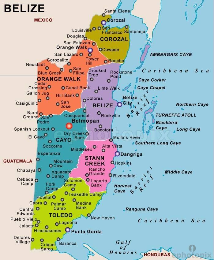 Map Of Belize San Pedro Scoop Belize Pinterest Belize - Map of belize