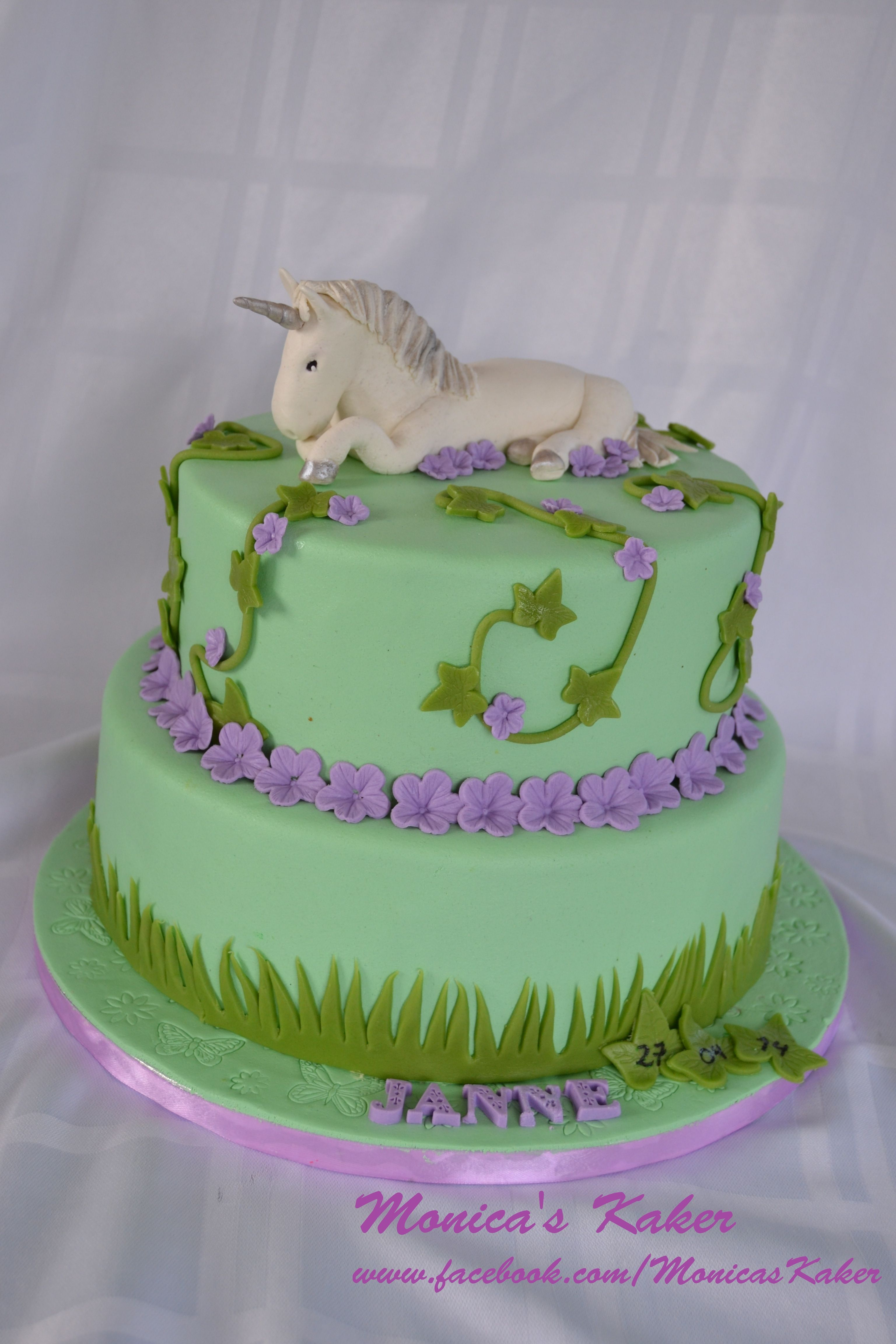 Unicorn Cake For A Konfirmation Two Tier Red Velvet With