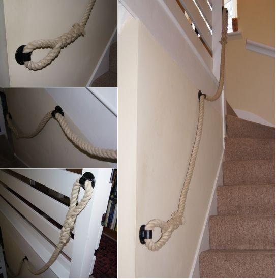 24mm 100% Natural Hemp Rope Stairs Banister (Handrail