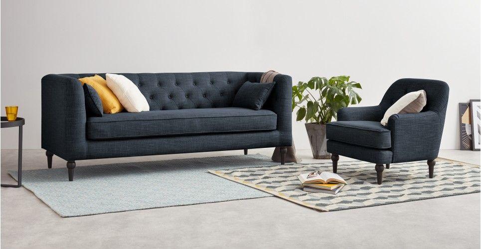 Sofa Linen Flynn MixMagichouse Seat Blue 3 SofaAtlantic IbfyvY6g7