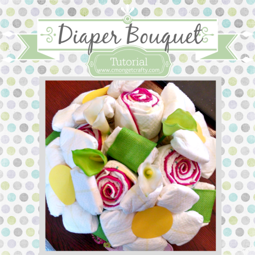 Step by step instructions on how to create a unique and pretty diaper bouquet!