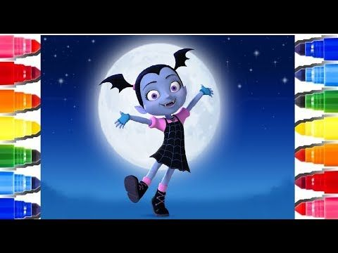 Vampirina Ghoul Girls Coloring Pages L How To Color And Learn Colors
