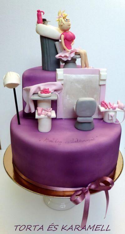 Beauty Salon Cake Beauty Shop Torta De Cupcakes Tartas Cupcakes