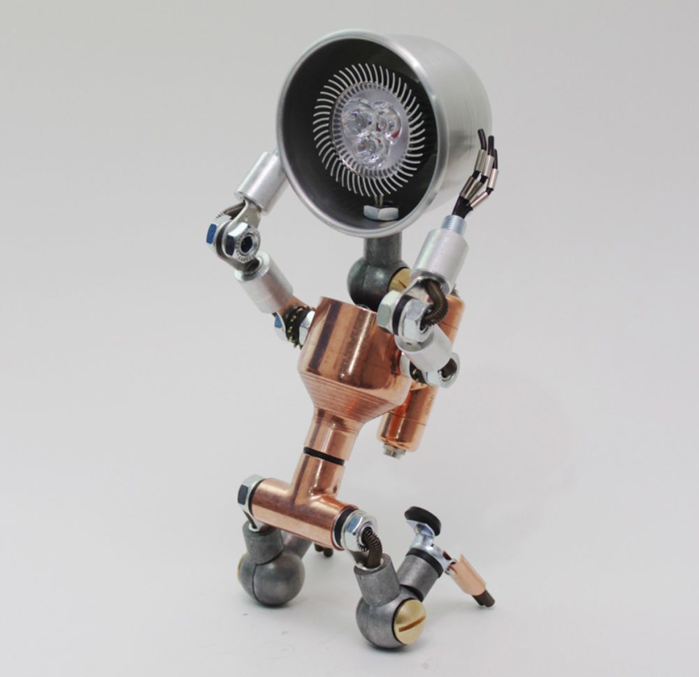 Desk Light Lamps Decor Lighting Table Lamp Handmade Faucet Robot ...