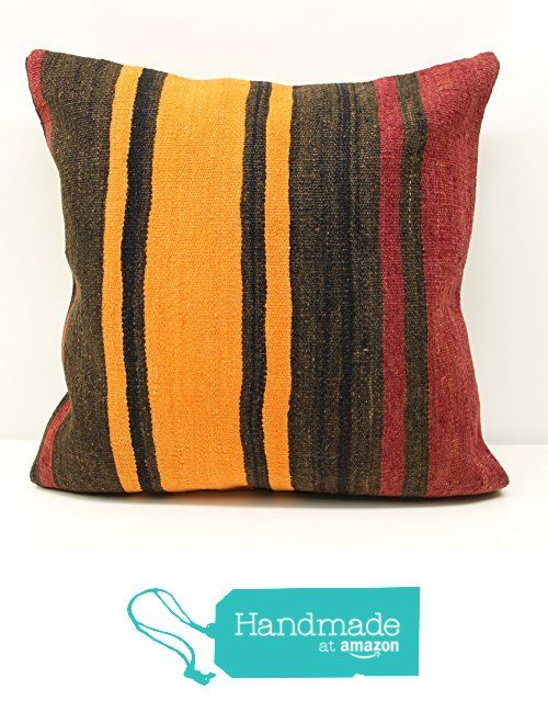 Stripe pattern Pillow cover 20x20 inch (50x50 cm) Living Room Kilim pillow cover Sofa Decor Folk Art Pillow cover Kilim Cushion Cover from Kilimwarehouse https://www.amazon.com/dp/B01M5K20VA/ref=hnd_sw_r_pi_dp_5L0gybRV6RWPG #handmadeatamazon