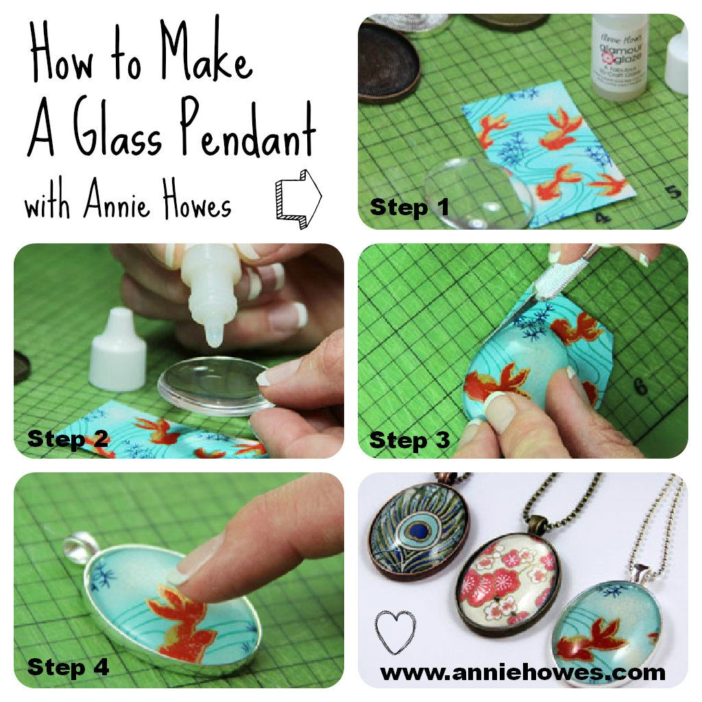 So easy how to make a glass pendant in a pendant tray with annie how to make glass jewelry pendants in pendant trays with annie howes i love this idea mozeypictures Images