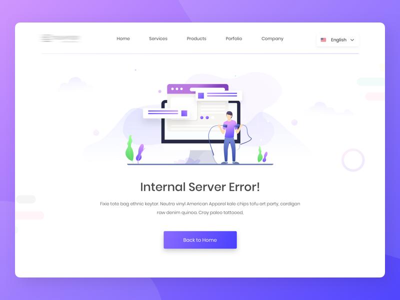 500 Internal Server Error V2 Server Web Design Error Page