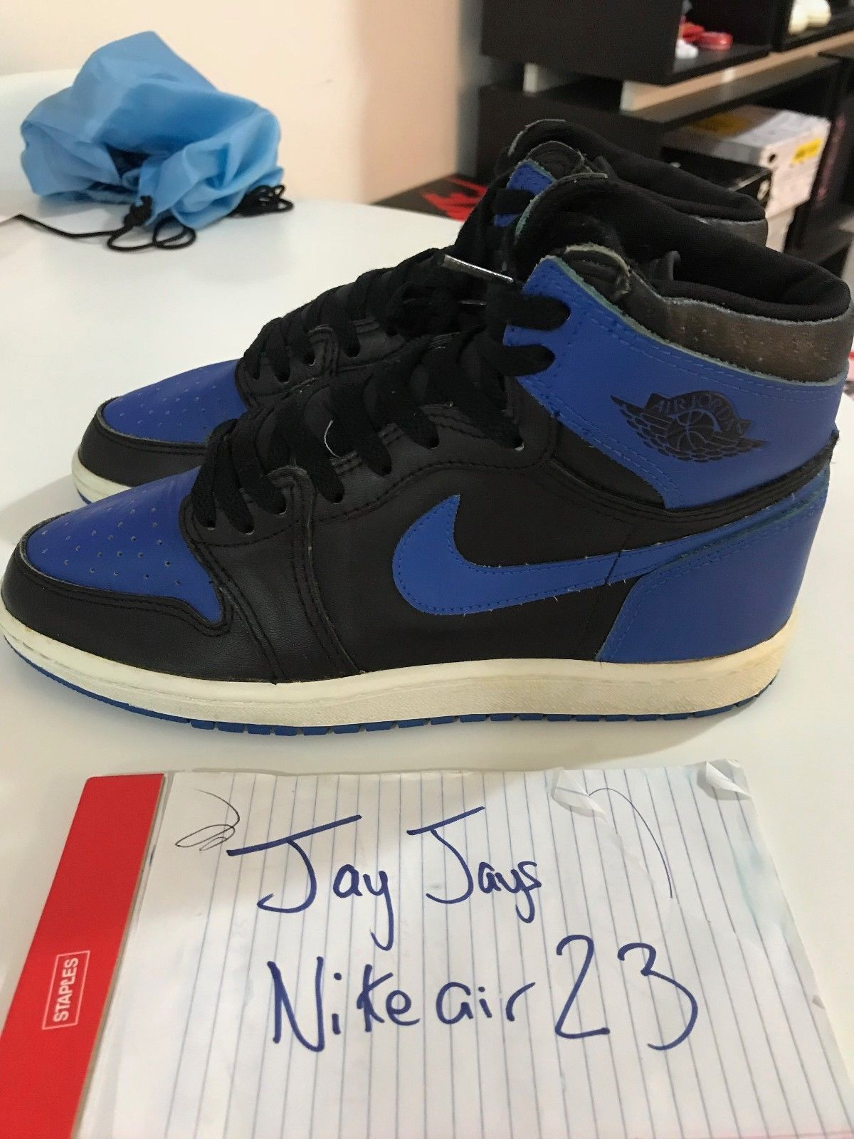 2a2c52f72dd Details about 2017 Nike Air Jordan1 Retro High OG Royal Blue Size 8 ...