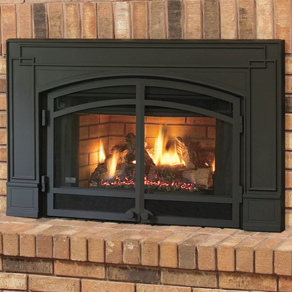 Blower & Logs | Cast iron fireplace