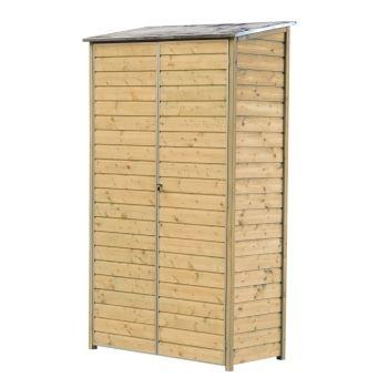 armoire de balcon, en epicéa - l.120xl.60xh.200cm | epicea, armoires
