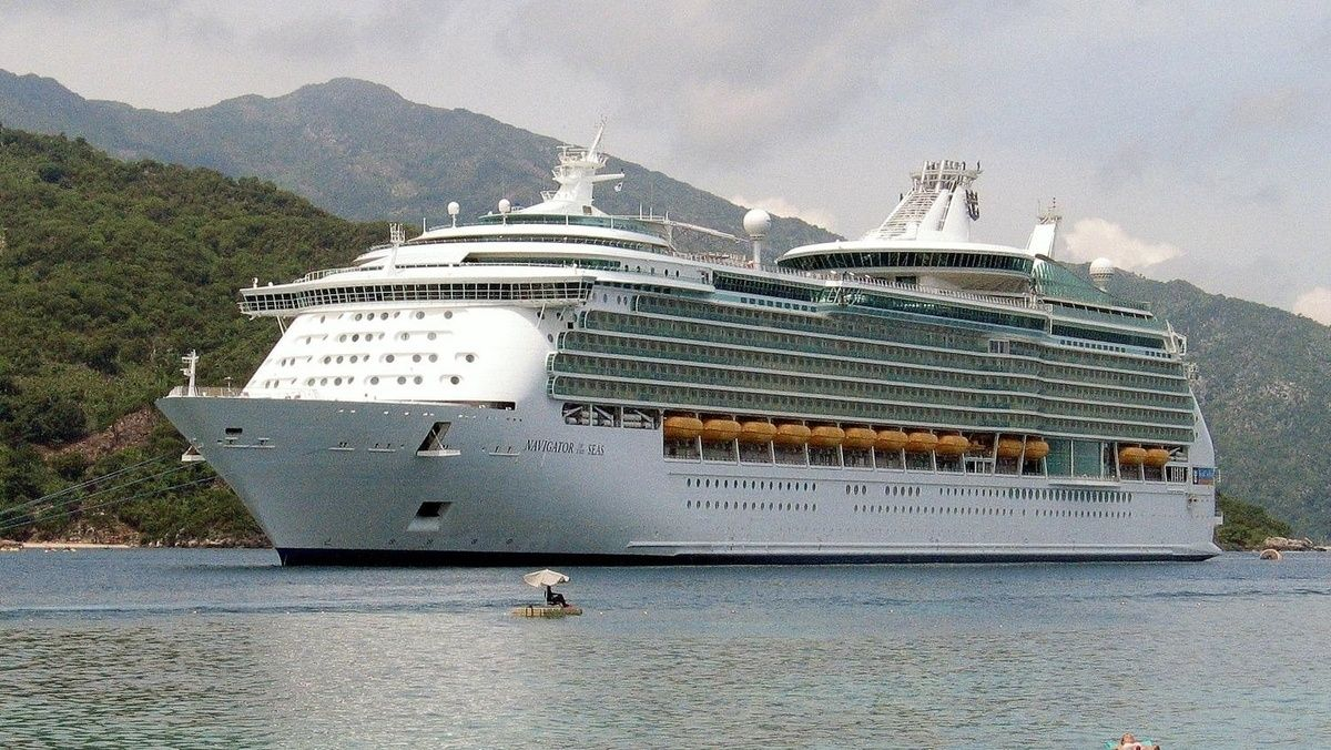 Royal Caribbean is using a cruise ship to help evacuate