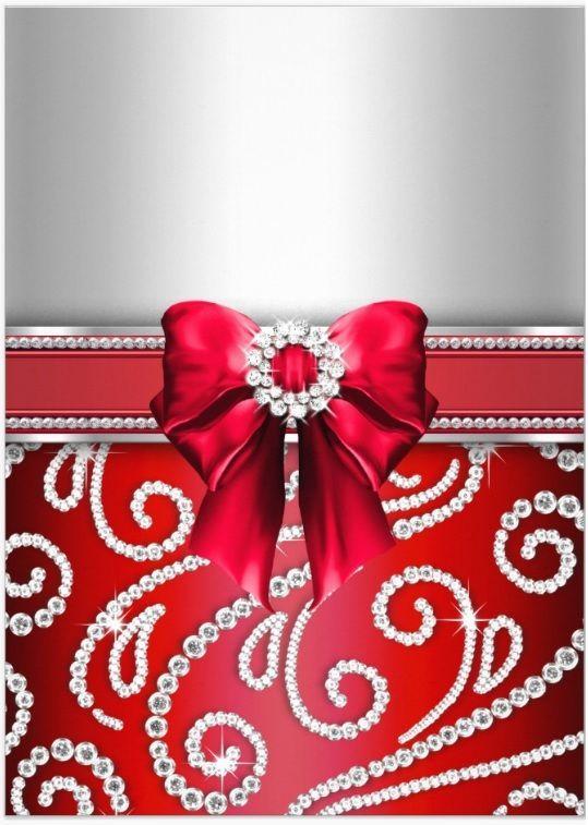 Bb 8 Cute Wallpaper Elegant Red And Silver Diamond Center Bow Amp Diamond