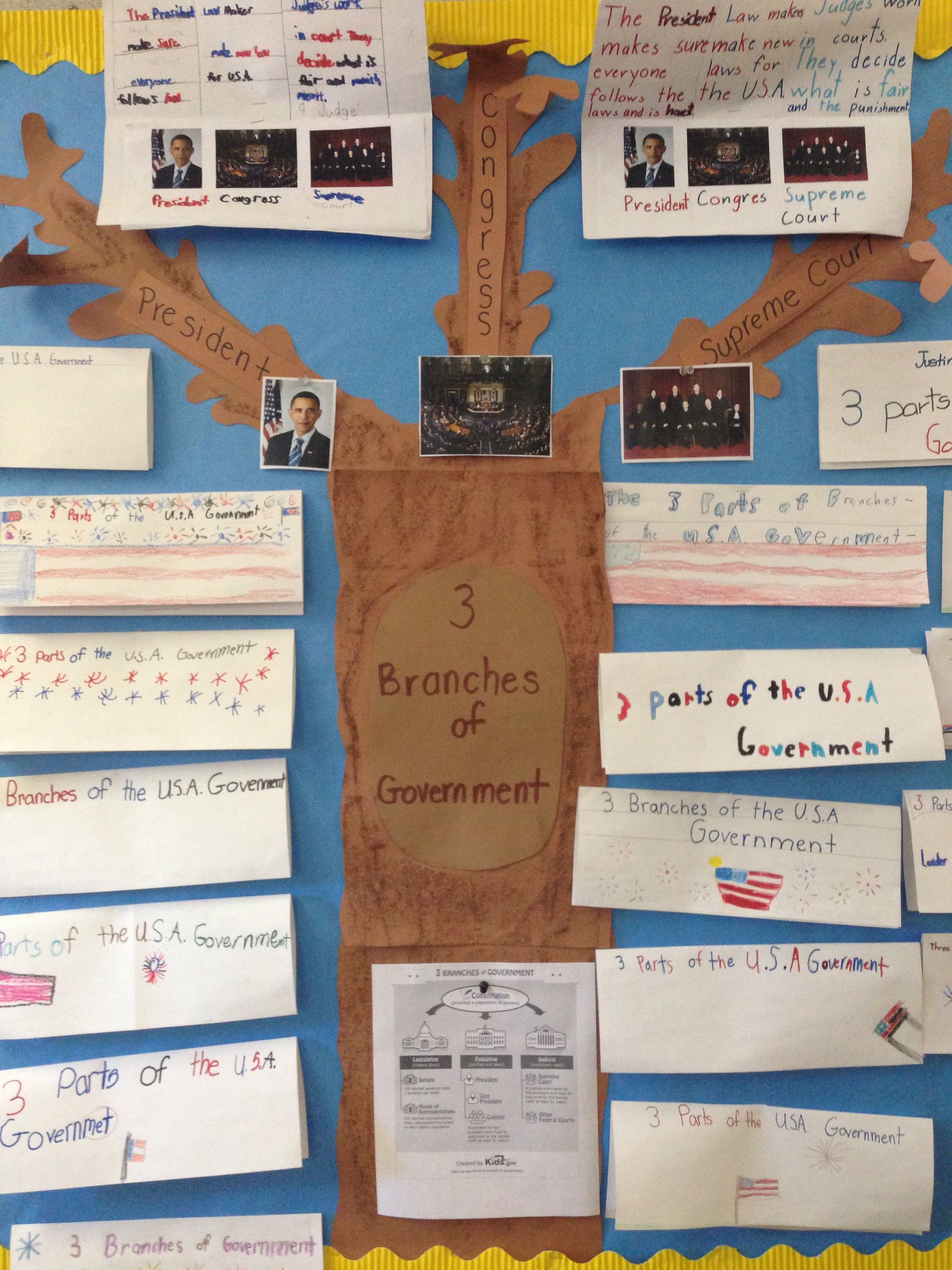 3 Branches Of Government Project With Images Third Grade