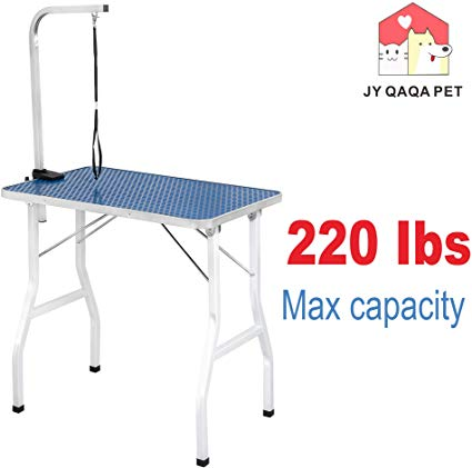 Amazon Com Jy Qaqa Pet 32 Professional Foldable Pet Dog Grooming Table With Adjustable Arm Maximum Capacity Up To 220lbs Dog Grooming Large Dogs Pet Dogs