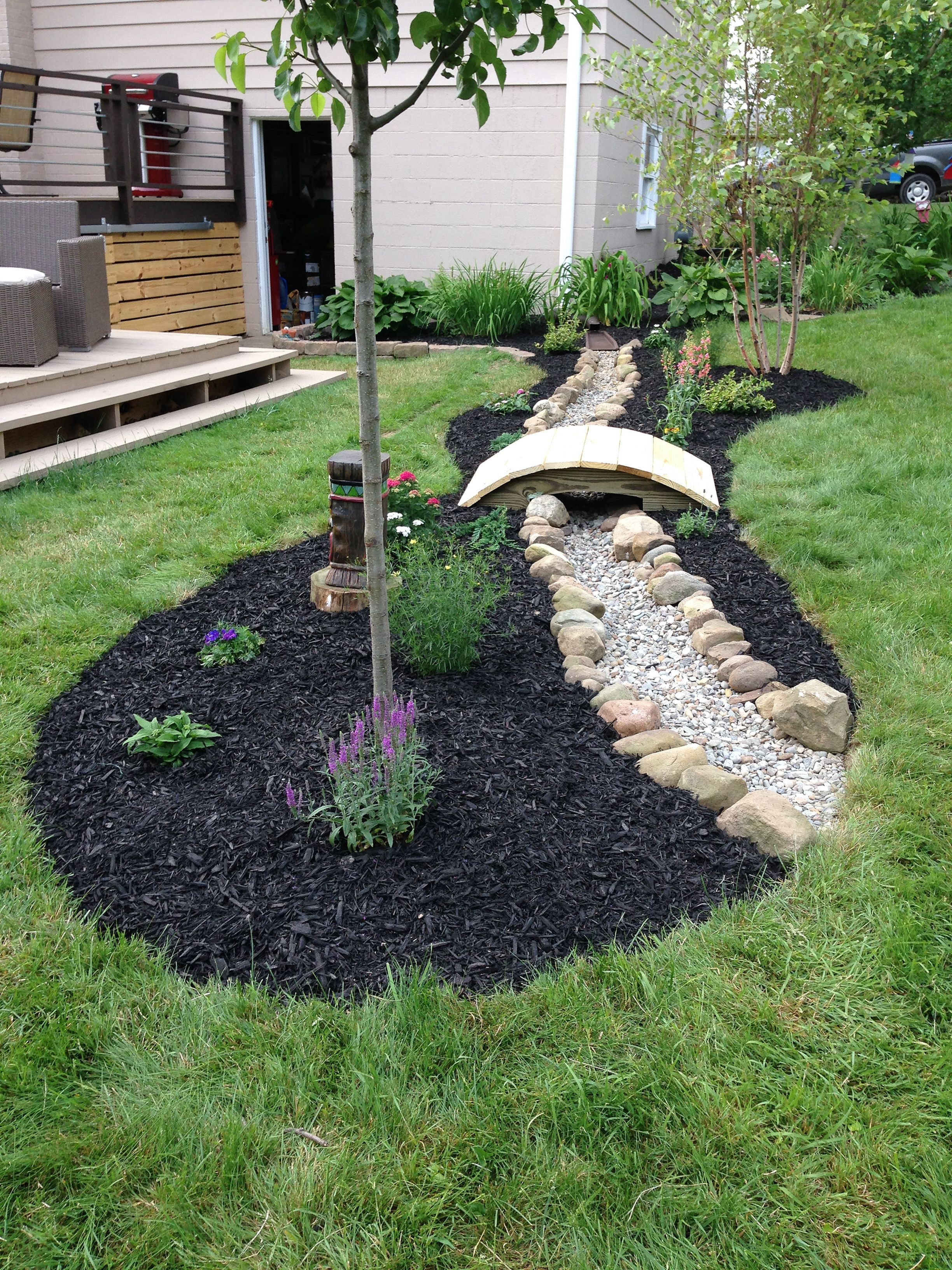 Inspiring 110 Awesome Dry River Bed Landscaping Design Ideas You