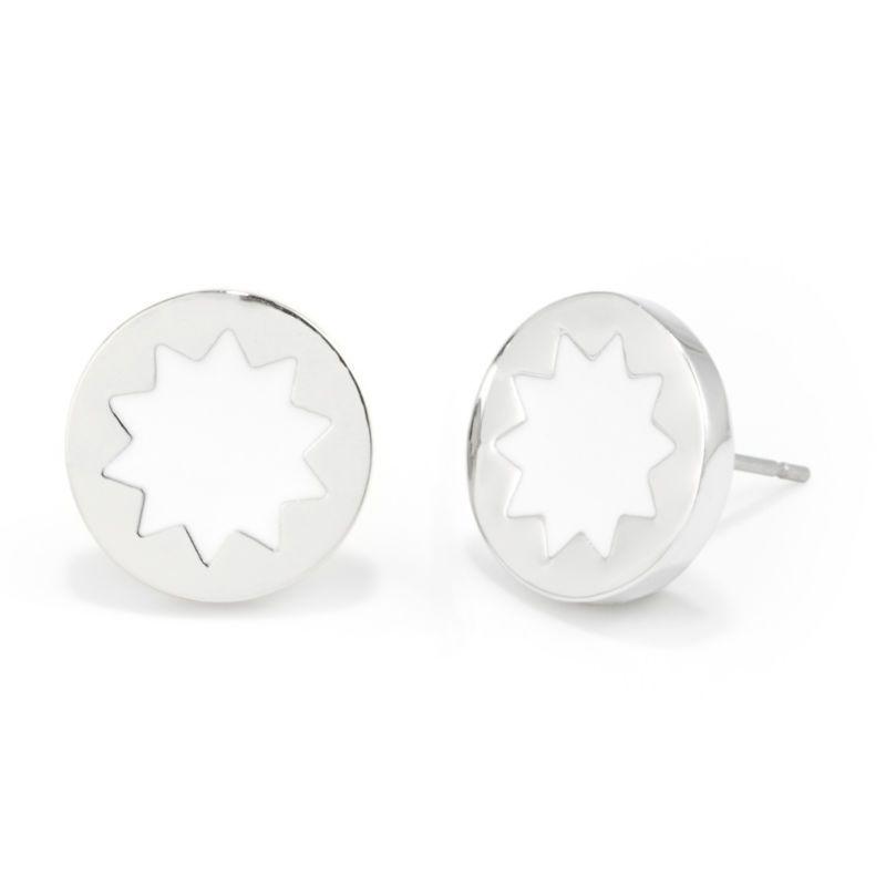 House Of Harlow 1960 Mini Sunburst Stud Earrings In White