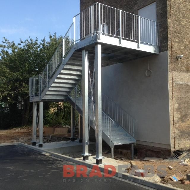 Best A Commercial Property Fire Escape Manufactured In Mild 400 x 300