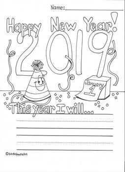 new years resolution coloring pages | Free New Year's Resolution Fun Worksheet for 2020 | New ...