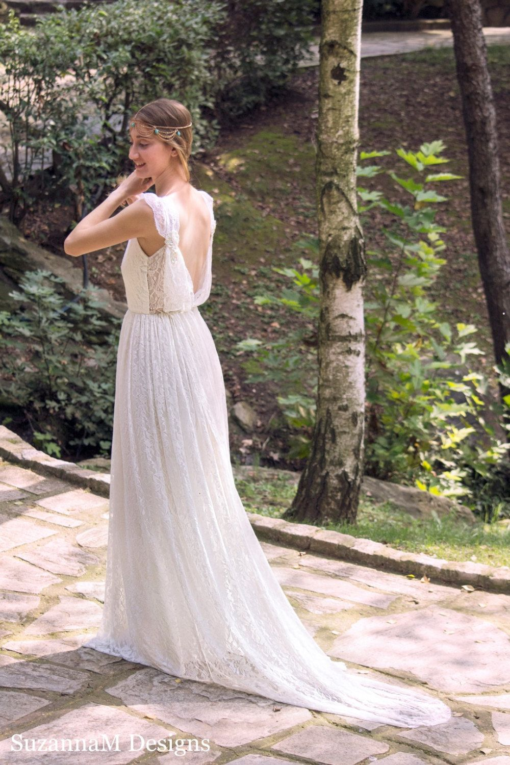 Ivory bohemian wedding dress beautiful lace wedding long gown boho ivory bohemian wedding dress beautiful lace wedding long gown boho gown bridal gypsy wedding dress ombrellifo Images