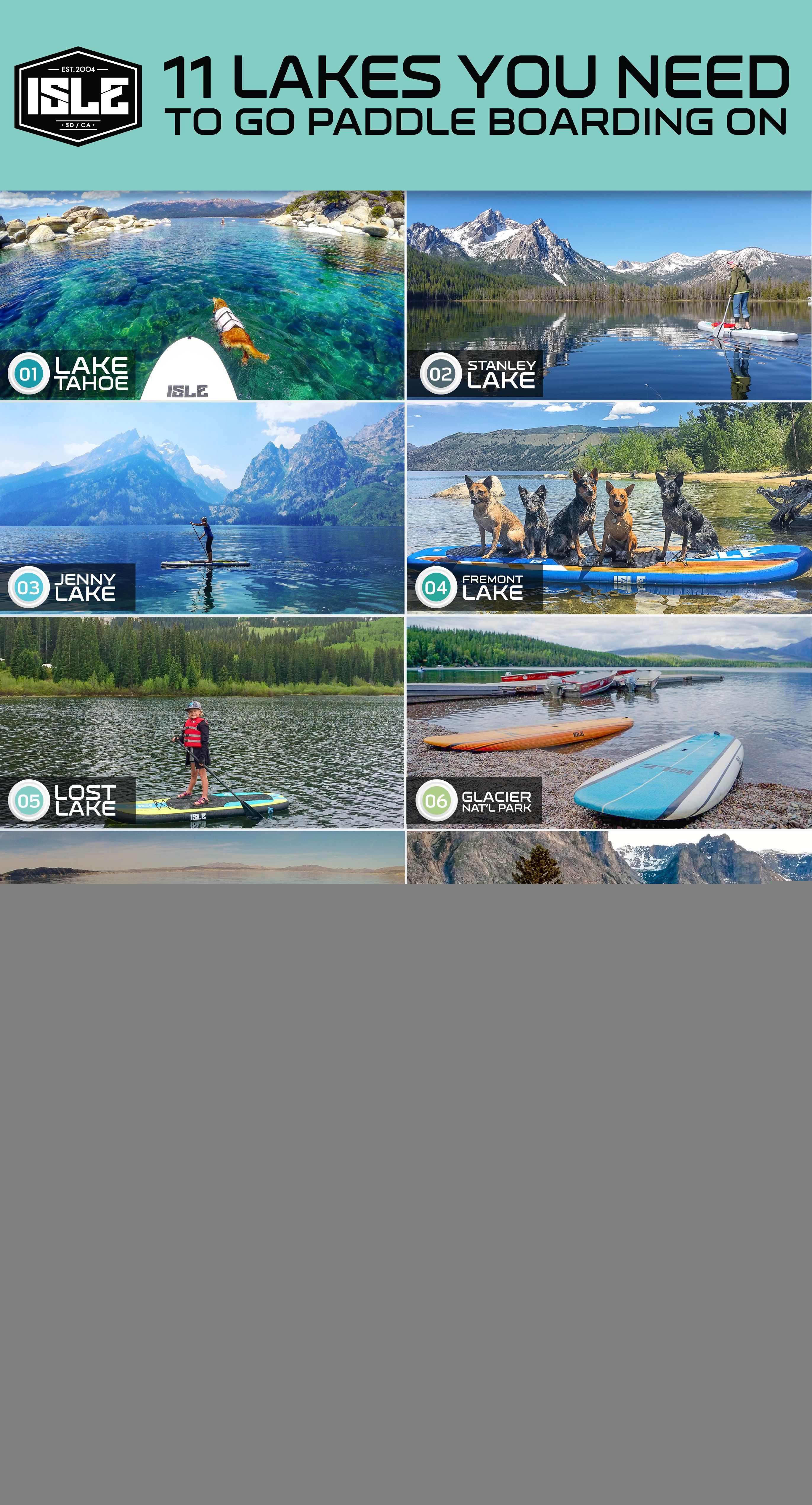 11 Lakes To Go Paddle Boarding In The Usa